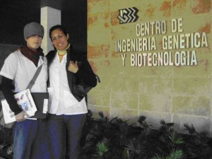 J.M. Souers and V. Lezcano at the Institute of Genetic Engineering and Biotechnology (January 2009)