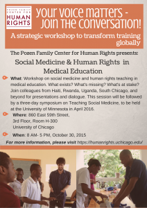 Social Medicine and Human Rights Conference Flyer